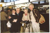 The Krajinas with daughter Milena and son Vláďa, departure for Prague, 1990