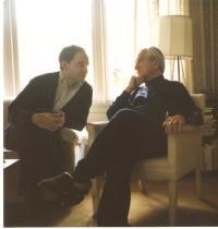 Prof. Krajina with his grandson Ríša, Vancouver 1992