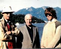 Three generations of the Drabeks, Bowen Island near Vancouver, about 1985. From the left: Jan, Jaroslav, Jan, the son of brother Jáša.