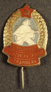 A badge of the guerrilla group in Štramberk