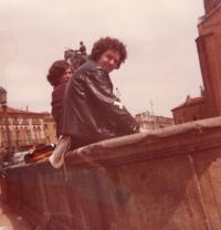 Zsuzsa Gáspár and Péter Donáth, Padova, 1977