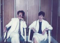 Zsuzsa Gáspár and János Kenedi at the beginning of the eighties