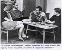 Editorial of the Eszmélet (Júlia Levendel, Miklós Fogarassy, Béla Horgas and Péter Nádas