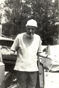 Vilmos Sós at the Bulgarian coast, 1976