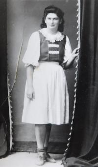Marian, the Jewish girl, who went into hiding with the Bednars in Dolina - April 1, 1945