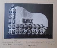 11 - tableau Masterpieces school for carpenters Czech Budejovice 1947 - 1949