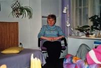 In her office in the Blanická street, Prague