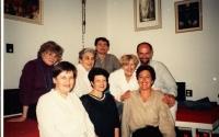 Zdena Kmuníčková, top row on the right, with her coworkers