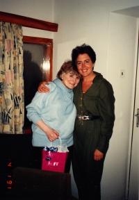 Zdena Kmuníčková and therapist Diana Hok, 1990s