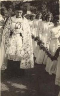 1947 - the first holy mass