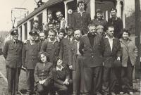 1963 - Transport Company, Vnislav as a tram driver with his colleagues