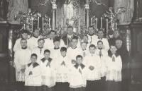 1966 - the Basilica in Staré Brno, Vnislav as a chaplain