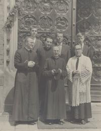 1970 - ministry in the basilica of Sts Peter and Paul in Brno