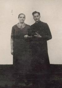 1948 - with the mother as a priest