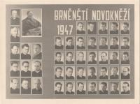 1947 -  new priests, Vnislav on the left at the bottom
