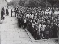 Protest assembly against occupation 1968