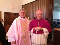 2013 - Petr Esterka and Most Reverend Kevin W. Vann, JCD