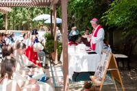 2011 - in the Czech mission center Velehrad in California during holy mass with compatriots
