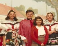 1978 - Peter Esterka between compatriots at one of the moravian days