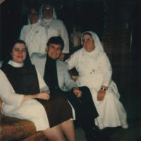 1963 - with the nuns, that Peter Esterka learn English