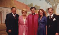 1981 - Moravian day in Chicago, Petr Esterka with compatriots