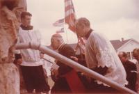 1966 - Petr Esterka accompanied by cardinal Josef Beran on the pastoral trip to the US