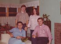 1976 - a celebration of 20 years since graduation (Petr Esterka sitting on the left, Joseph a Whack on the right)