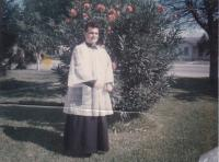 """1964 - Petr Esterka at the Texas: """"Here I am in """"rochetka"""". It is between the parsonage and the church"""""""