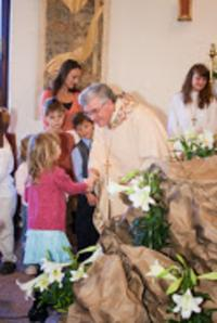 2009 - Easter with US, bishop Petr Esterka with parishioners