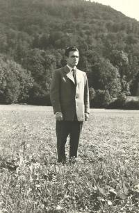 1957 - Peter Esterka before going to the seminary in Rome