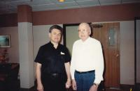 1989 - June, Petr Esterka and Mons. Peter Jumpy (was a Czech roman catholic priest active in foreign policy and papal chamberlain)