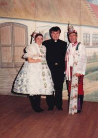 1982 - Moravian day in Chicago, Petr Esterka with a pair that has a folk costume of his native village