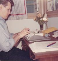 1968 - Petr Esterka in his office