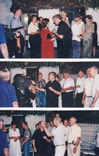 1999 - meeting with compatriots in the Dolní Bojanovice on the occasion of the episcopal consecration of Petr Esterka