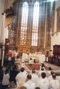 1999 - the episcopal consecration of Petr Esterka in the cathedral of st. Peter and Paul in Brno