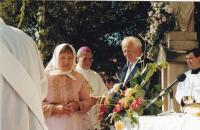 1999 - the feast after the bishop's consecration, Petr Esterka between sister Agnes and brother-in-law