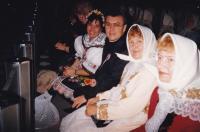 1989 - siblings Petr Esterka and Agnes Hromková among your friends, canonization of Anežka Česká in Rome