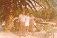 1978 - Split, former Yugoslavia, on a joint vacation with my sister Agnes and brother-in-law