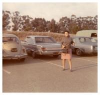1969 - California, Ruzena with her first car