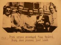 Josef Lesák with Milada Horáková
