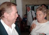 19 - with the president Vaclav Havel in Uherske Hradiste in July 2007