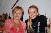 With her daughter Andrea - celebrating 30th birthday