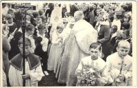 János Kokes as an acolyte in his childhood in 1960s