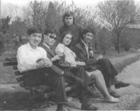 János Kokes with Asian colleagues during studies in Bucharest in 1975