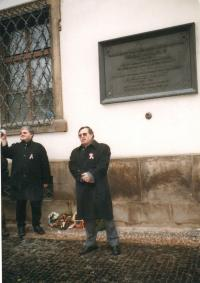 János Kokes during celebrations of Hungarian national holiday in Prague 2005