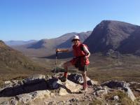 Marketa in Scotland, Western Highlands Trail, 2009