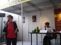 Jiřina Šiklová talking of Markéta´s mother, Jiří Theiner Prize, Book Fair, Prague 2016
