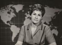 Czechoslovak Television newscaster, 1965