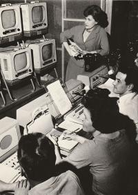Preparing for TV News, 1960