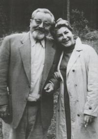 With Jan Werich in Velhartice, August 20, 1968